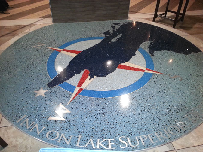 Terrazzo Project - commercial - Inn on Lake Superior - Duluth, Minnesota