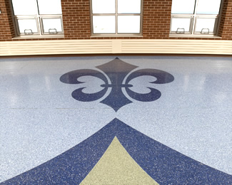 Terrazzo Project - education - St. Croix Falls Elementary School - St. Croix Falls, Wisconsin