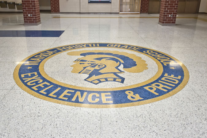 Terrazzo Project - education - Moroa-Forsyth Grade School - Forsyth, Illinois