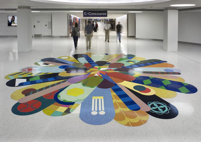 Terrazzo Project - government - Lambert Airport - St. Louis, Missouri